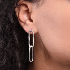 Paperclip Earrings - Silver
