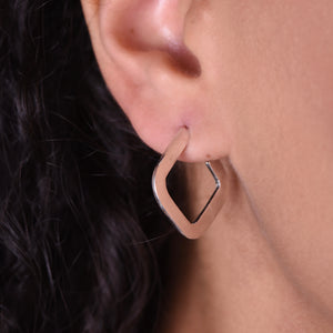 Square Earrings - Silver