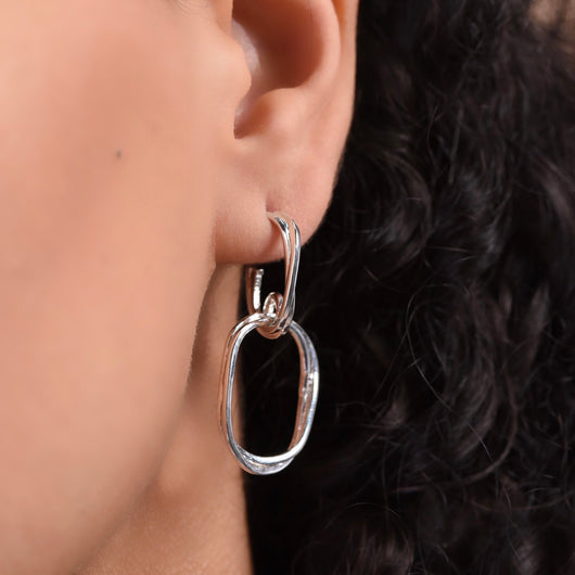 Union Earrings - Silver