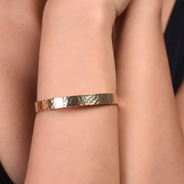 Hammered Bracelet - Gold