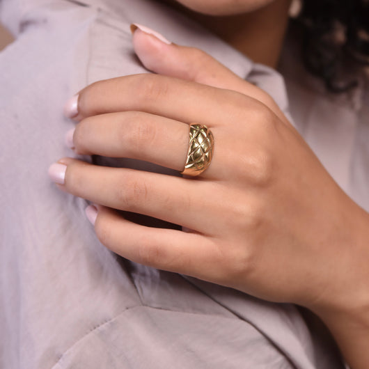 Pineapple Ring - Gold
