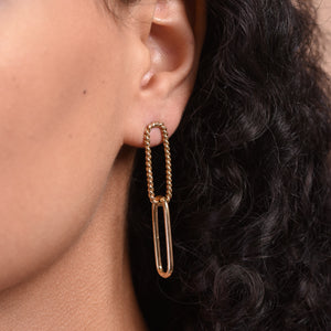 Paperclip Earrings - Gold