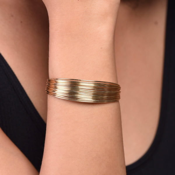 Multi-wire Bracelet - Gold
