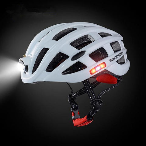 Cycling Helmet With USB Rechargeable Light - Apexventureco