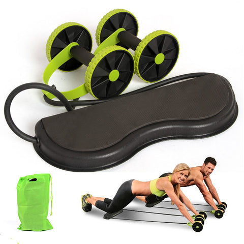 Double Ab Roller/Muscle Trainer for Home Workout and Travel - Apexventureco