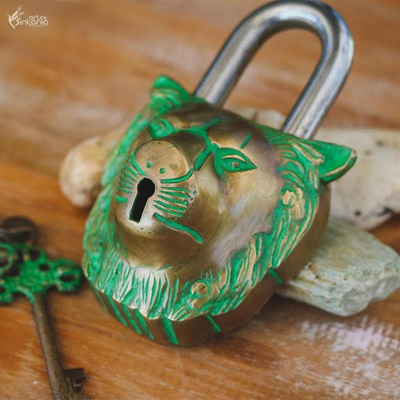 61580 cadeado indiano leao lion decorativo home decor artesintonia 2