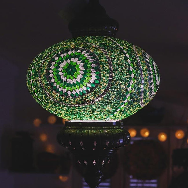 A180 V lustre pendente mosaico turco turkish mosaic lamps decoracao colorida verde 1
