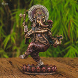 arte hindu home decoration deus indiano lord ganesha dancando pintura metalizada