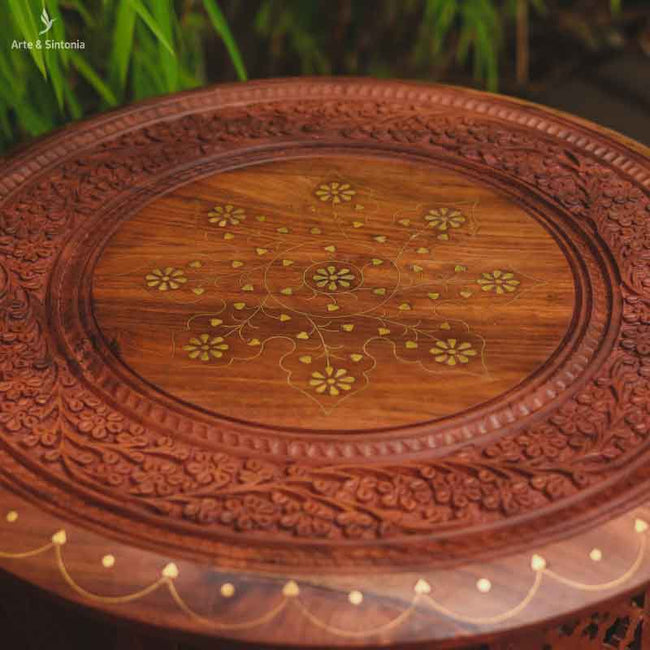 indian-wooden-hand-carved-table-mesa-redonda-madeira-natural-entalhada-indiana-pintura-dourada-floral-movel-india