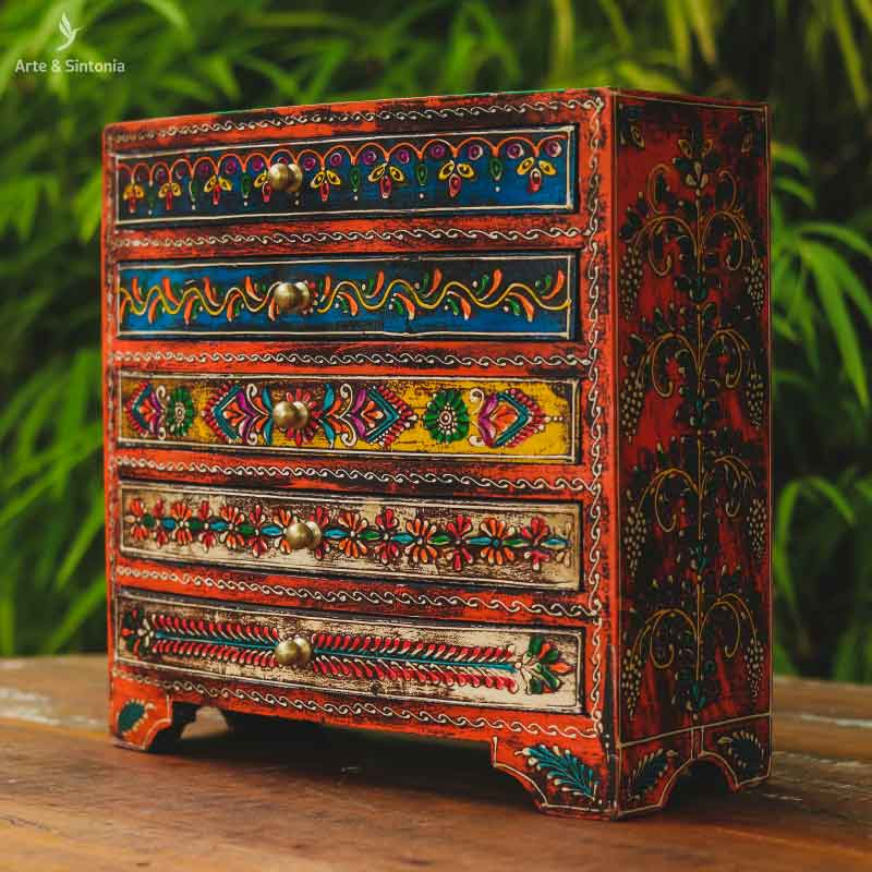 wooden-indian-jewelry-box-caixa-organizadora-porta-joia-gaveteiro-gavetas-pintura-colorida-madeira-patina-india