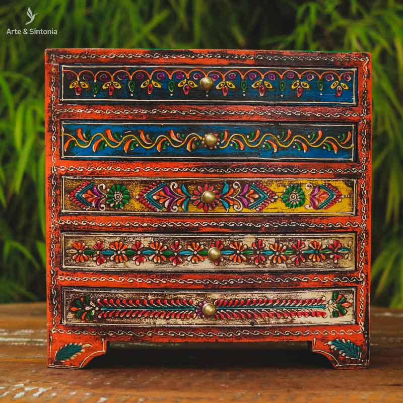 wooden-indian-jewelry-organizing-box-chest-drawers-caixa-organizadora-joia-mini-gaveteiro-gavetas-pintura-indiana