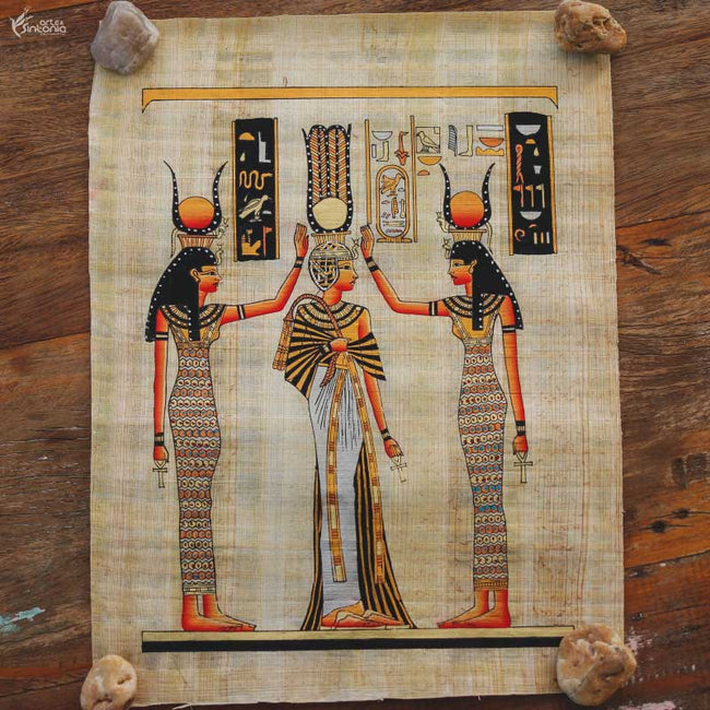 ancient-egyptian-art-nefertiti-queen-egito-papiro-egipcio-papel-artesanal-rainha-nefertiti-wall-decoration