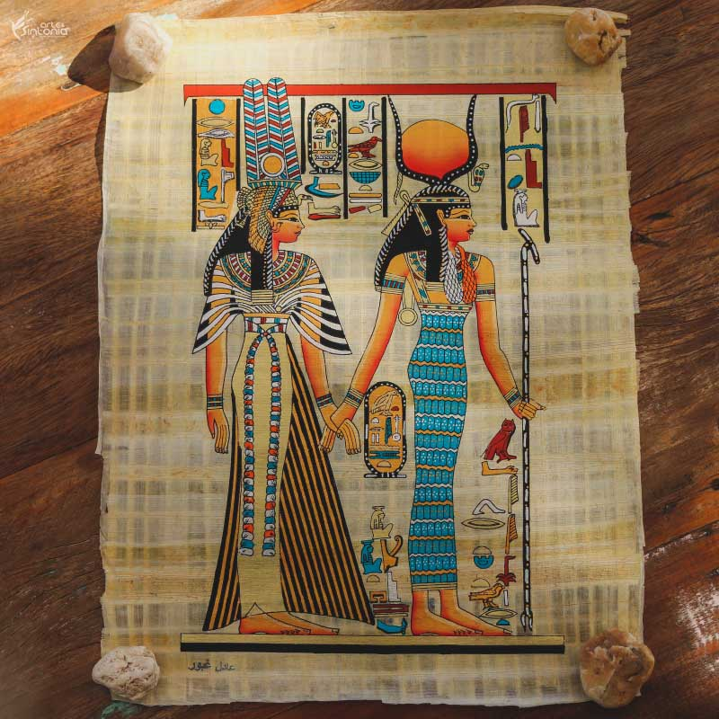 ancient-egypt-art-wall-decoration-papyrus-painting-papel-papiro-decoracao-parede-egito