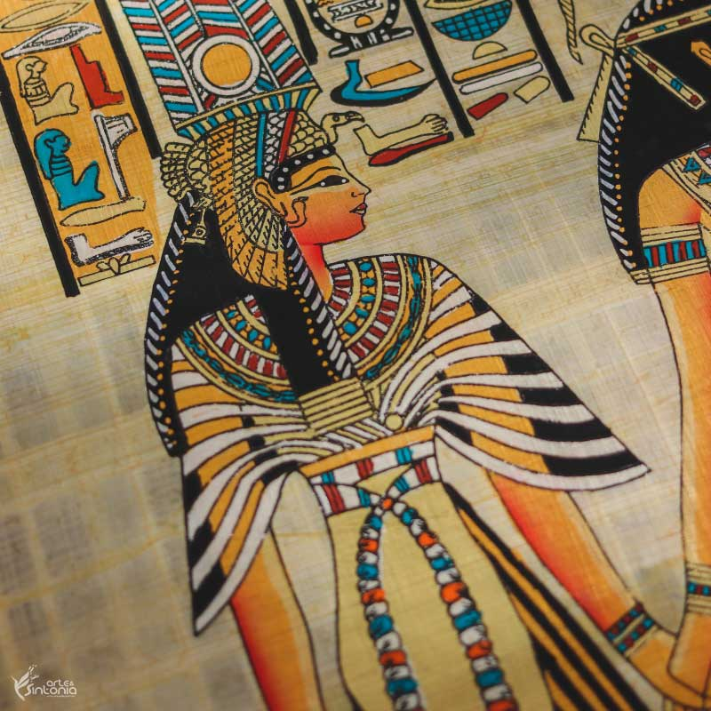 ancient-egyptian-art-wall-decoration-papyrus-paper-painting-papel-papiro-decoracao-parede-egito