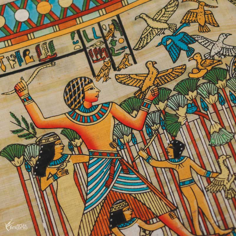 papyrus-hand-painted-egyptian-craft-papel-papiro-artesanal-autentico-decoracao-interiores-egito-wall-art