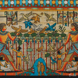anciant-art-papyrus-hand-painted-egyptian-craft-papel-papiro-artesanal-autentico-decoracao-interiores-egito-wall-art