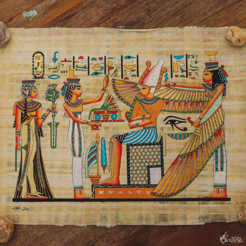 papyrus-painting-decorative-art-wall-decoration-papel-artesanal-papiro-ramses-protecao-isis-decoracao-parede