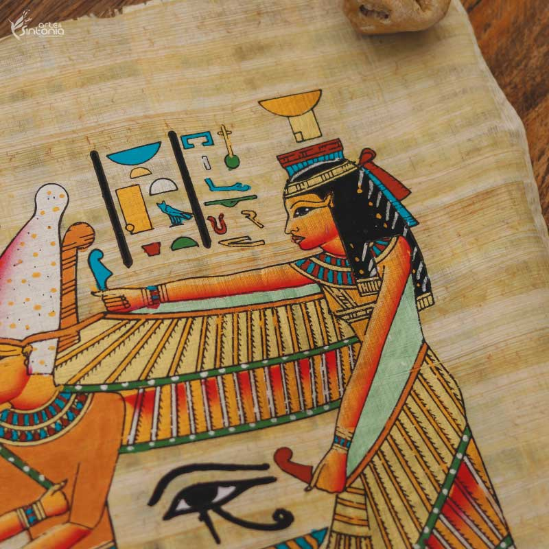 handmade-papyrus-painting-decorative-wall-art-papel-artesanal-papiro-ramses-protecao-isis-decoracao-parede-estilo-etnico-home-decor