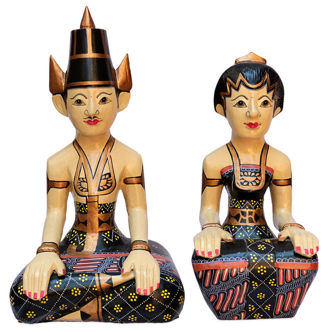 javanese loro blonyo casal inseparavel amor incondicional escultura decorativa wooden art bali home decor indonesian wedding decoracao etnica