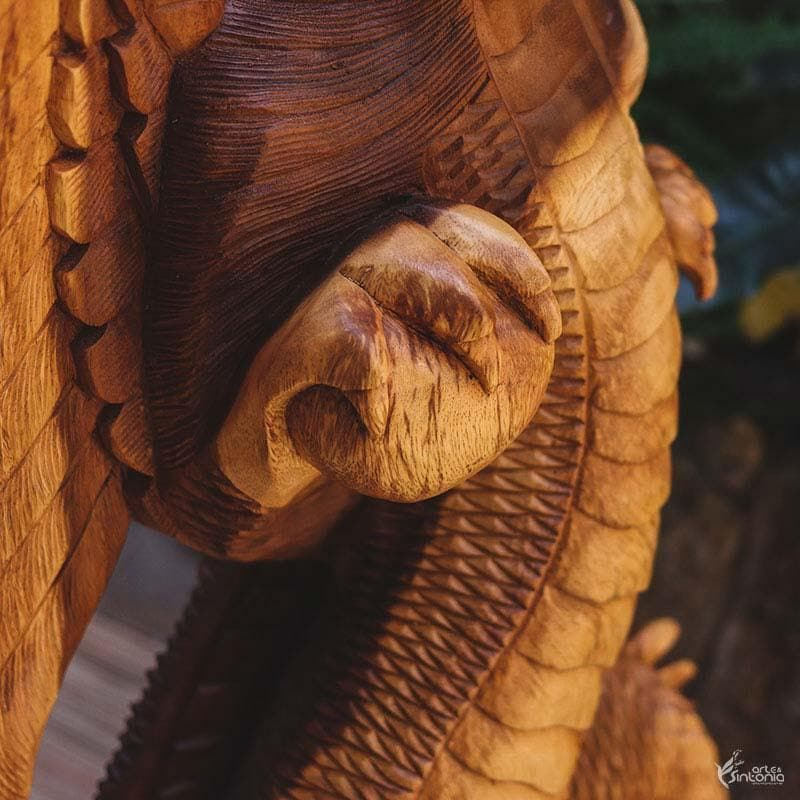GL34 19 escultura dragao madeira animais decorativos home decor bali arte indonesia artesintonia 4