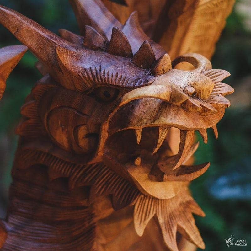 GL34 19 escultura dragao madeira animais decorativos home decor bali arte indonesia artesintonia 5