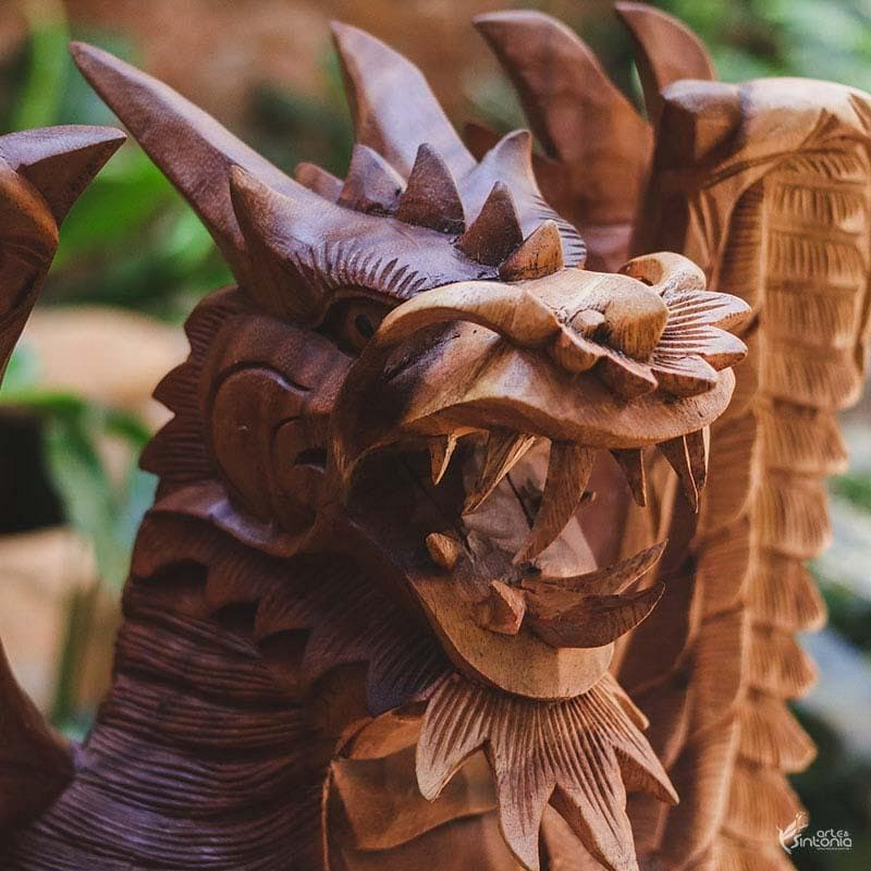 GL34 19 escultura dragao madeira animais decorativos home decor bali arte indonesia artesintonia 7