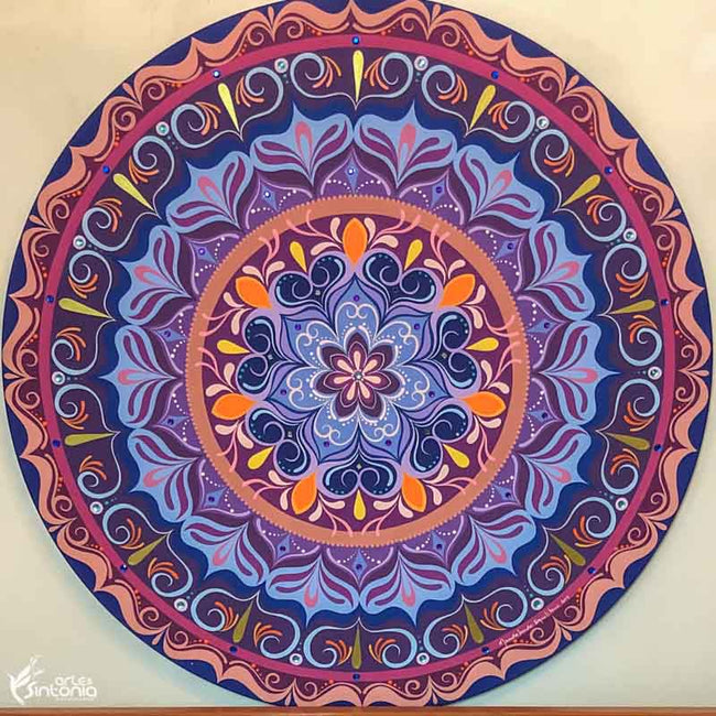 HEL90 1 mandala decorativa paredes decoracao wall decoration mystic boho zen style artesintonia mdf colorida loja mandalas 90cm 1