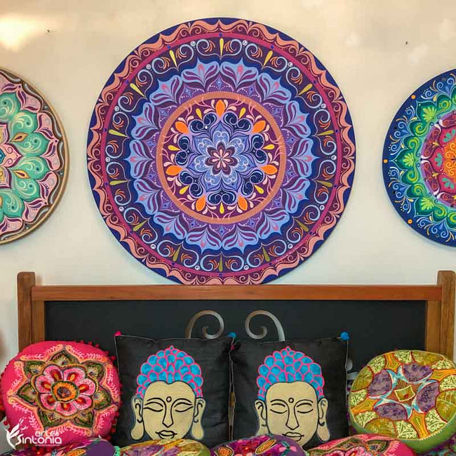 HEL90 1 mandala decorativa paredes decoracao wall decoration mystic boho zen style artesintonia mdf colorida loja mandalas 90cm 2