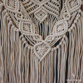 macrame quartzo rosa boho chic wall decoration hanging grande artesanal com pedra decorativo home decor artesintonia 3