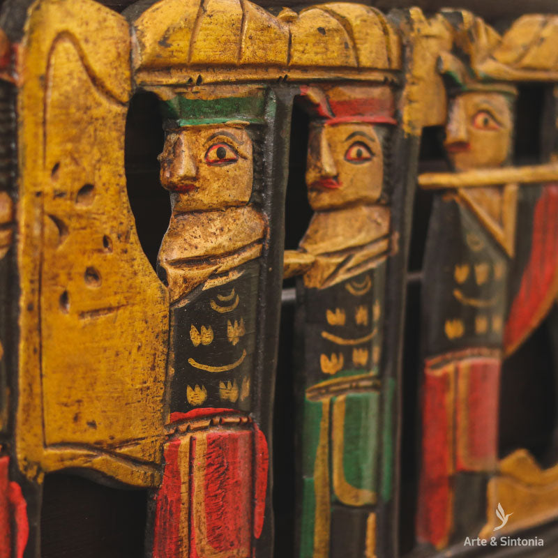 arte-bali-cerimony-panel-wooden-art-wall-decor-procession-balinese-decoracao-parede-cerimonia-indonesia
