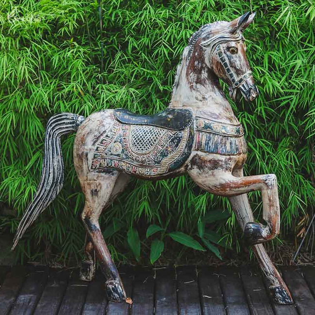 WE10 cavalo madeira decorativo artesanal arte indonesia bali home decor animais decorativos artesintonia 1 0