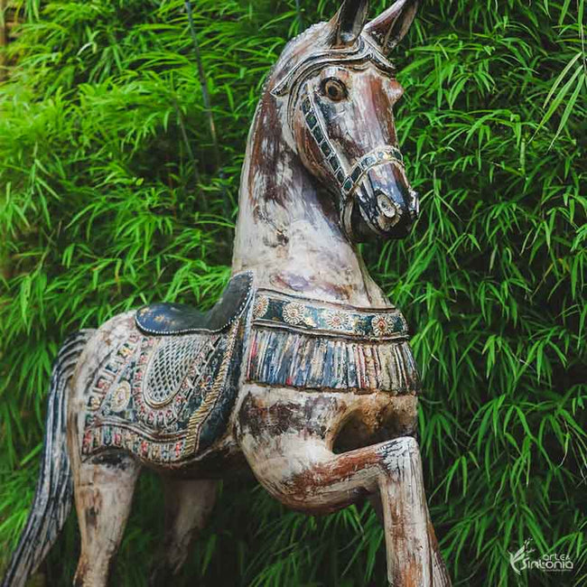 WE10 cavalo madeira decorativo artesanal arte indonesia bali home decor animais decorativos artesintonia 1 2