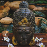 mascara mask decorativa buddha buda verde musco home decor decoracao zen artesintonia 1