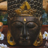 mascara mask decorativa buddha buda verde musco home decor decoracao zen artesintonia 2