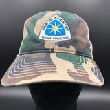 NCNST Emblem Vintage Washed Cotton Camo Trucker Cap