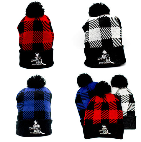 NCTA Logo Toque, Buffalo Plaid