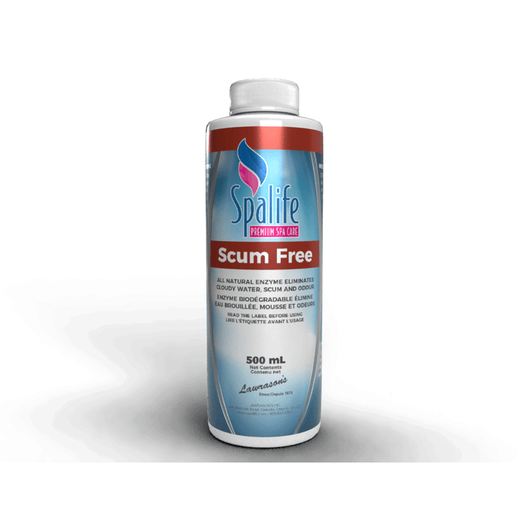 Spa Life Hot Tub chemicals Pool Store Canada Spa Life Scum Free Natural Enzymes Descummer 500ml - Pool Store Canada