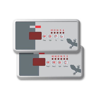 Gecko Gecko Topside control panel Pool Store Canada Gecko TSC 18 Topside control panel 2 pump Overlay - Pool Store Canada