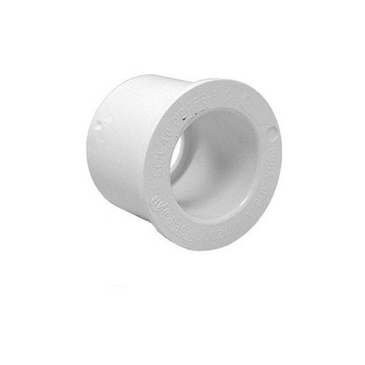 "Dura Plastics Reducing bush Pool Store Canada White PVC Reducer Bushing - 2-1/2"" Spigot x 2"" Slip - Pool Store Canada"