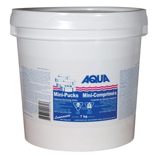 Aqua Pool Chlorine Pool Store Canada Aqua Pool Mini Stabilized Chlorine pucks 15g - 7kg - Pool Store Canada