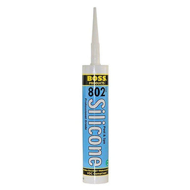 Boss #802 Silicone Sealant for Pools and Hot Tubs 10oz - Pool Store Canada