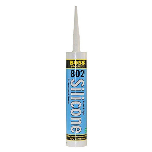 Boss #802 Silicone Sealant for Pools and Hot Tubs 10oz