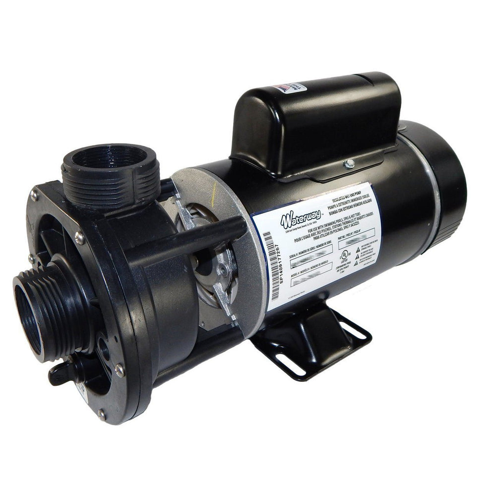 "WaterWay Waterway hot tub pump Pool Store Canada Waterway Pump 3/4HP 1 Speed, 48F, 120V, 1.5"" Center Discharge Hot Tub Pump - Pool Store Canada"