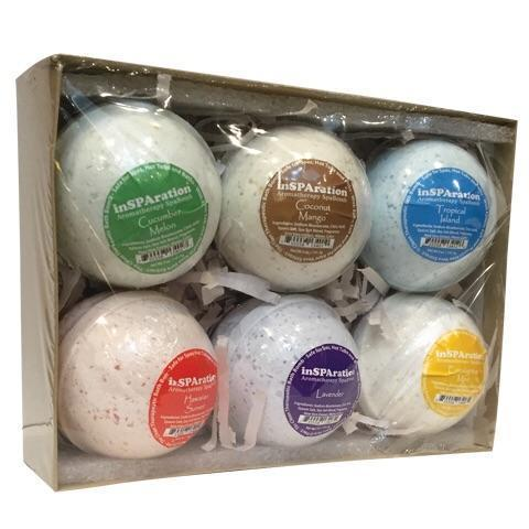 Insparations Spa Fragrance Pool Store Canada inSPARations Spa Bomb Gift Box Set of 6 - Pool Store Canada