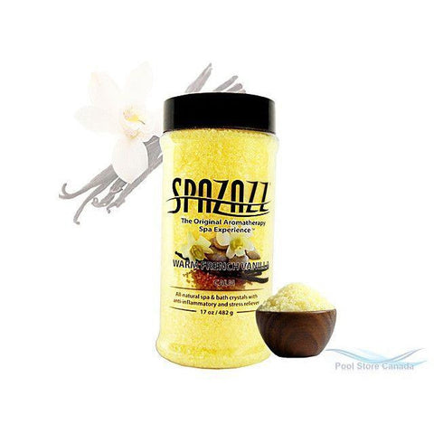 SpaZazz Spa Fragrance Pool Store Canada Spazazz Original Warm French Vanilla  Aromatherapy Crystals 17oz 482g - Pool Store Canada