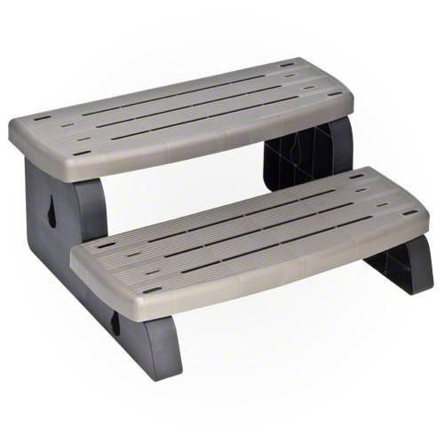 WaterWay Hot tub steps Pool Store Canada Waterway Hot Tub Steps - Charcoal - Pool Store Canada