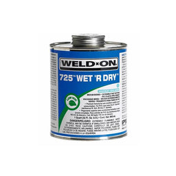 WeldOn  Pool Store Canada Weldon 725 Wet R Dry PVC Pipe Glue - 1/2 Pint - Pool Store Canada