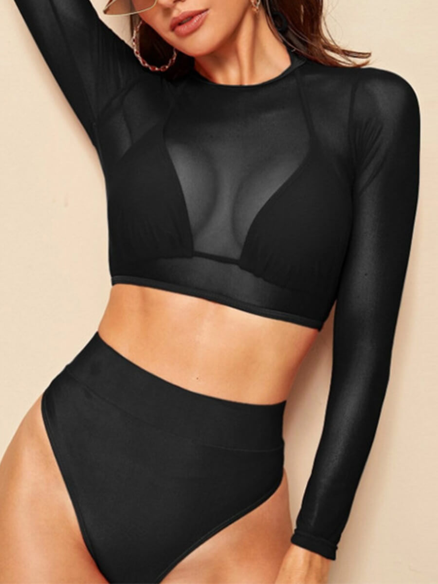 Halter High Waist Bikini & Cover Up Set