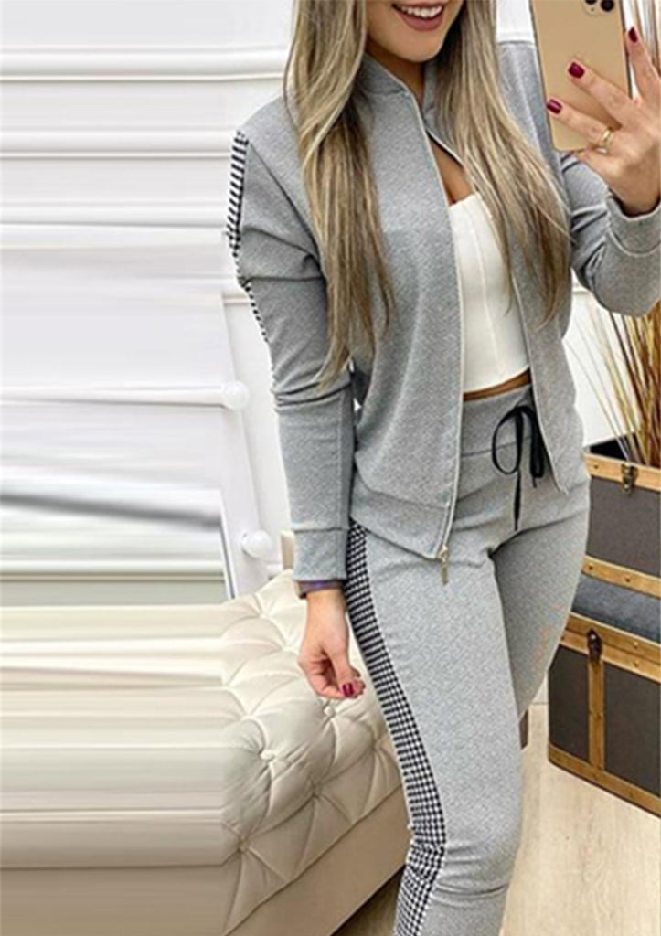 Long Sleeve Jacket & Drawstring Pants Sets