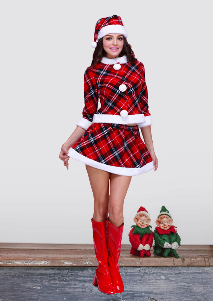 Christmas Red Plaid Costumes